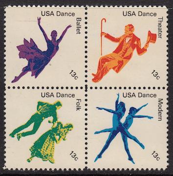 #1752a Dance Block of 4, Please see the description