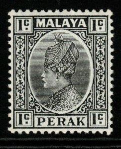 MALAYA PERAK SG88 1936 1c BLACK MTD MINT