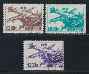Korea Scott C6-C8 Airmail Set Used