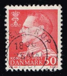 Denmark #418 King Frederik IX (fluor); used (0.50)