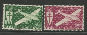 GUADELOUPE, C1-C2,MINT HINGED, PLANE