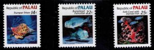 Republic of Palau  Scott 75-77 MNH** short set 1985