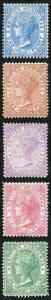British Honduras SG12/16 Wmk CC Perf 14 Set of 4 Fresh M/M