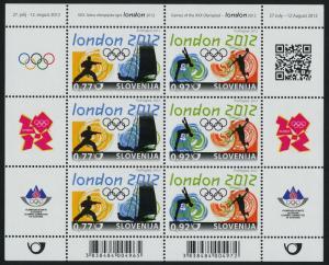 Slovenia 945 Sheet (MI961-2) MNH London Olympic Games, Sports