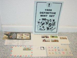 USPS Mail 1982 Definitive Mint Set,Stamps Including $2, $1 w/ Envelope
