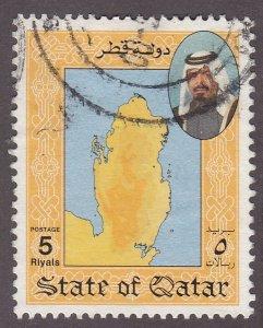 Qatar 800 Map of Qatar 1992
