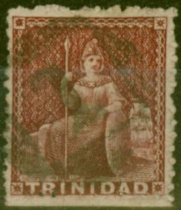 Trinidad 1863 Lake SG69a Wmk Sideways Fine Used