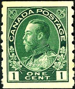 Canada #125 MINT OG HR Gum dist