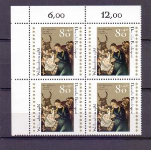 Germany  1985  MNH  Christmas  Hans Baldung block of 4