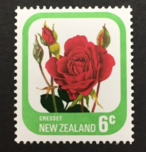New Zealand 1975 #589, Roses, MNH.