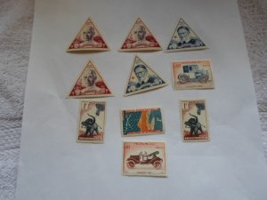 MONACO STAMPS. LOT OF 10 STAMPS # 6 LOT 3