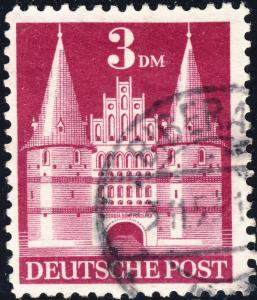 ALLEMAGNE / GERMANY Bizone 1948 Mi.99.YIIB(99.IIwg) 3DM T.2 p.11 - Used Nov 1953