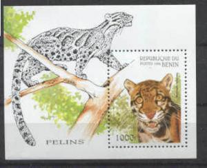 Benin 849 MNH s/s Wild cats SCV4.50
