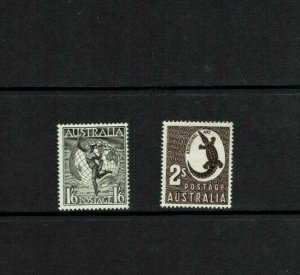 Australia: 1948 1/6  & 2/-  reissued no watermark, Mint lightly hinged