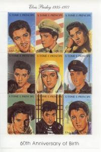 1994 St Thomas & Prince Elvis Presley - MS9 1166 MNH
