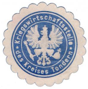 (I.B-CK) Germany (Great War) Cinderella : War Supplies Department Seal (Tondern)
