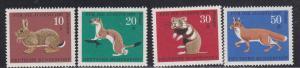 Germany # B422-425, Animals, Mint NH