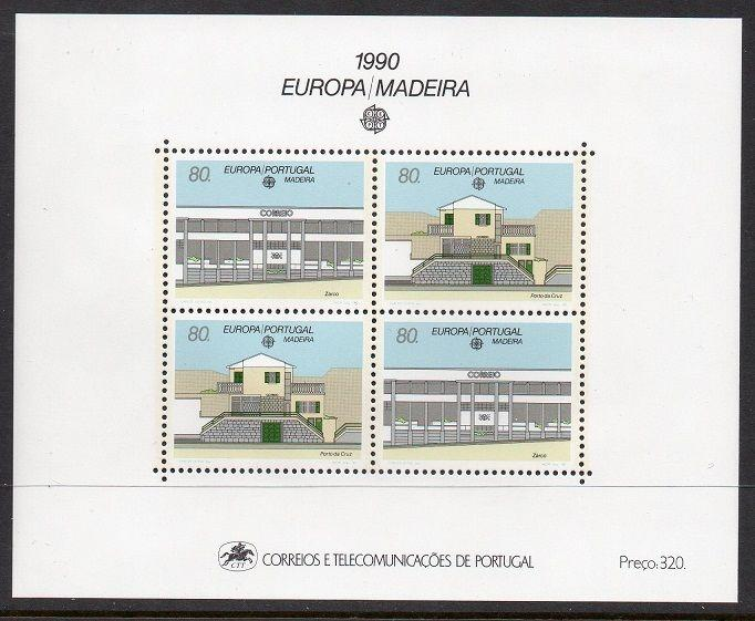 Portugal Madeira 1990 Europa Architecture SS VF MNH (138)