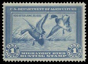 U.S. REV. DUCKS RW1  Mint (ID # 89653)