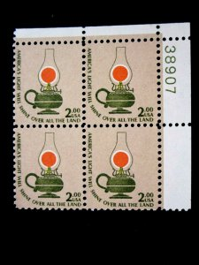 US - SCOTT# 1611 - PLATE BLOCK 4 - MNH - CAT VAL $16.50