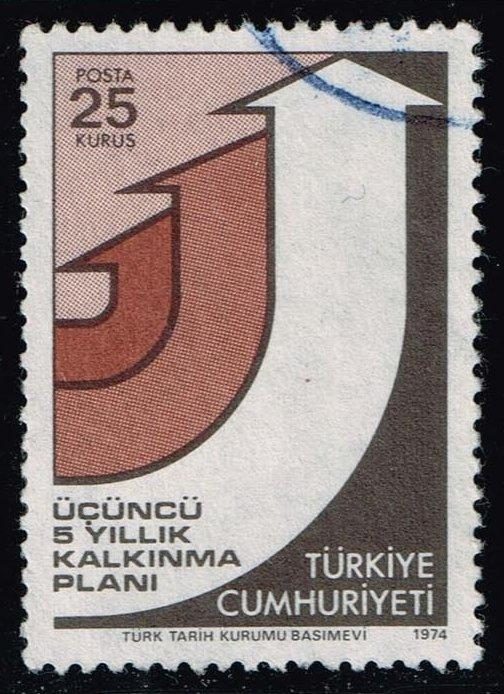 Turkey #1992 3rd 5-Year Development Program; Used (0.25)