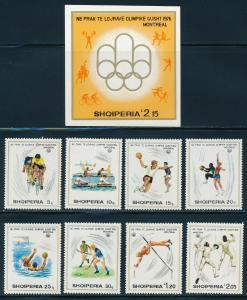 Albania - Montreal Olympic Games MNH Set (1976)