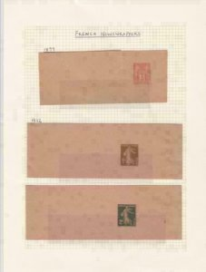 french 1877 and 1932 newspaper  stamps wrappers    ref r14405