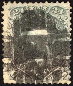 #78b 24c Gray 1862 Used Segmented Cxl CV $300