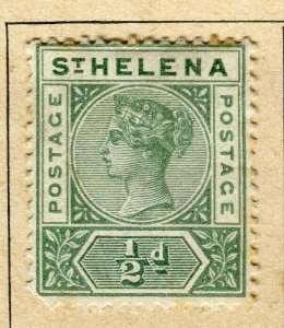 ST. HELENA; 1890 early classic QV issue Mint hinged 1/2d. value