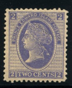 PRINCE EDWARD ISLAND: Sc.#12  **  2¢. Blue, VF-XF, Never Hinged, DIFFICULT S...