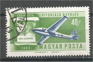 HUNGARY, 1962, used 40f Glider and Lilienthal's Scott C211