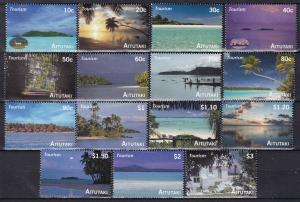 Aitutaki #547-61 MNH  CV $20.85  Z520