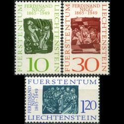 LIECHTENSTEIN 1965 - Scott# 401-3 Nigg Ptgs Set of 3 NH