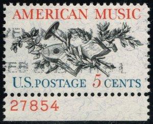 US #1252 American Music; Used (2Stars)
