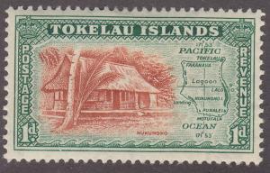 Tokelau Islands 2 Map of the Island 1948