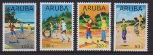 ARUBA 2019 CHILDREN GAMES 4v MNH