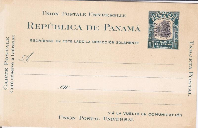 Canal Zone, Postal Card, Mint, Sc #UX2 (835)