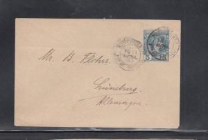 Cover from Monte Carlo Monaco to Germany Postal Stationery 1893