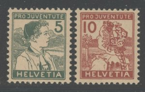 Switzerland 1915 Pro Juventute set Sc# B2-3 NH