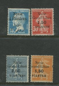 STAMP STATION PERTH Syria #110-112,170 Overprint Issue 1923-1925 MH