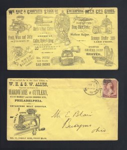 PENNSYLVANIA: Philadelpha 1886 #210 KITCHENS HARDWARE Advertising cover