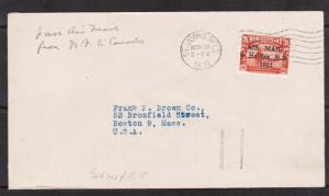 Newfoundland #C3d VF Used On Cover **With Certificate**