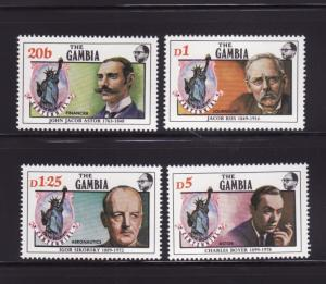 Gambia 630-633 Set MNH Statue of Liberty