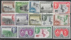 NYASALAND SG144/57 1945 DEFINITIVE SET MNH