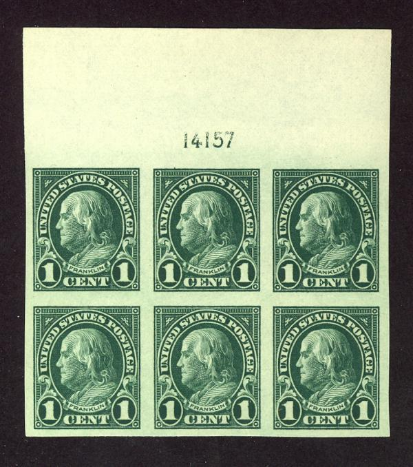 #575, Mint Wide Top PB/6, XF-OG-NH, Great color!