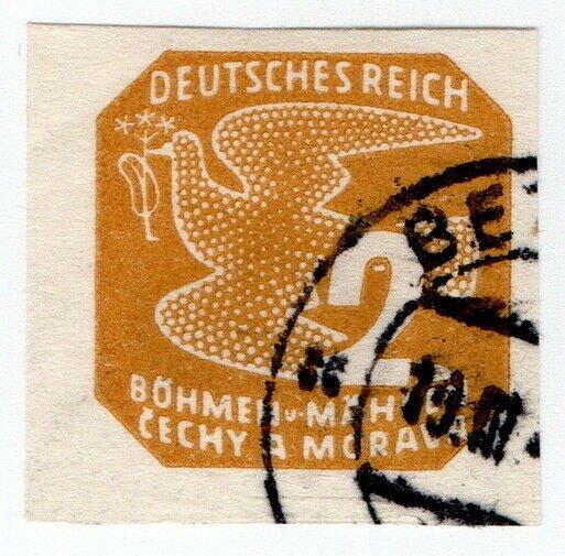 (I.B) Czechoslovakia Postal : Newspaper Stamp 2h (Bohemia & Moravia)