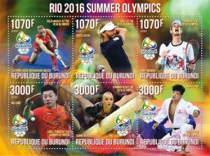 Stamps.Olympic Games in Rio Set 2 sheet perforated