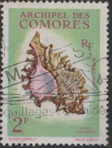 COMORES - 1962 - Yv.21/Mi.46 2fr Murex Ramosus - Obl. TB