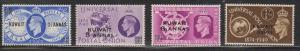 KUWAIT Scott # 89-92 MH - GB Stamps With Overprints - 1949 UPU Set
