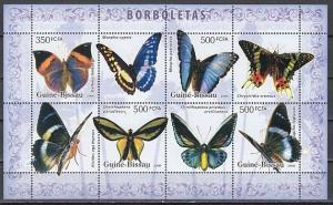 Guinea Bissau, Mi cat. 3386-3389 A. Butterflies sheet.